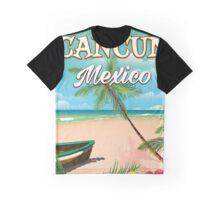 Cancun Mexico beach poster Graphic T-Shirt