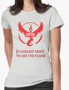 Team Valor Motto Womens Fitted T-Shirt