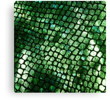 Shiny Emerald Scales Canvas Print