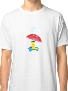 Raincloud, rubber boots and umbrella Classic T-Shirt
