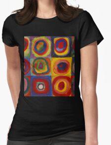 Kandinsky pattern Womens Fitted T-Shirt
