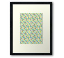 Tumbling Blocks, Yellow/Blue Framed Print