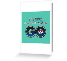 Pokemon Go! Greeting Card