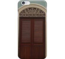 Central American Styled Wooden Door iPhone Case/Skin