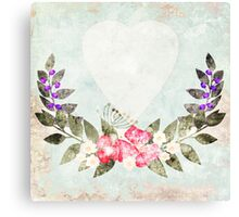 Paper grunge for congratulations Canvas Print