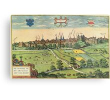 Bethune Vintage map.Geography France ,city view,building,political,Lithography,historical fashion,geo design,Cartography,Country,Science,history,urban Metal Print