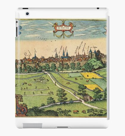 Bethune Vintage map.Geography France ,city view,building,political,Lithography,historical fashion,geo design,Cartography,Country,Science,history,urban iPad Case/Skin