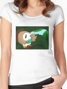 Rowlet In The Trees Women's Fitted Scoop T-Shirt