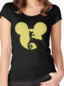 Mickey Skellington Women's Fitted Scoop T-Shirt