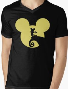 Mickey Skellington Mens V-Neck T-Shirt