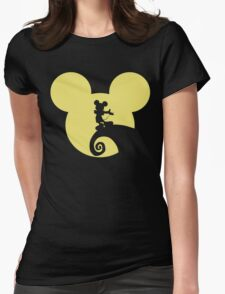 Mickey Skellington Womens Fitted T-Shirt