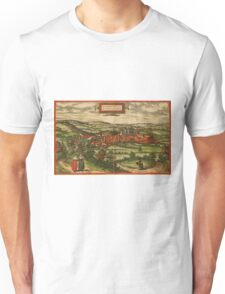 Blamont Vintage map.Geography France ,city view,building,political,Lithography,historical fashion,geo design,Cartography,Country,Science,history,urban Unisex T-Shirt