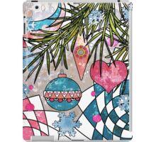 Card grunge new year . iPad Case/Skin