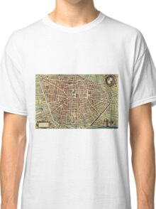 Bologna Vintage map.Geography Italy ,city view,building,political,Lithography,historical fashion,geo design,Cartography,Country,Science,history,urban Classic T-Shirt