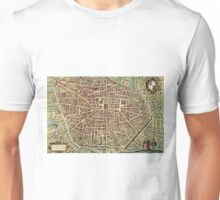 Bologna Vintage map.Geography Italy ,city view,building,political,Lithography,historical fashion,geo design,Cartography,Country,Science,history,urban Unisex T-Shirt