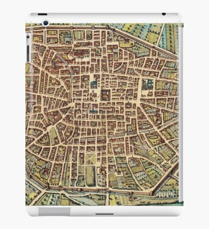 Bologna Vintage map.Geography Italy ,city view,building,political,Lithography,historical fashion,geo design,Cartography,Country,Science,history,urban iPad Case/Skin