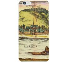 Boppard Vintage map.Geography Germany ,city view,building,political,Lithography,historical fashion,geo design,Cartography,Country,Science,history,urban iPhone Case/Skin