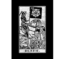 Death Tarot Card - Major Arcana - fortune telling - occult Photographic Print