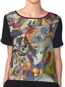 Colourful Detailed Kandinsky painting Chiffon Top