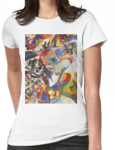 Colourful Detailed Kandinsky painting Womens Fitted T-Shirt