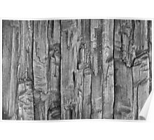 wooden board background Poster
