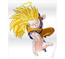 Son Goku As SSJ 3 - Dragon Ball Z Poster