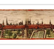 Braunschweig Vintage map.Geography Germany ,city view,building,political,Lithography,historical fashion,geo design,Cartography,Country,Science,history,urban Sticker