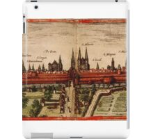 Braunschweig Vintage map.Geography Germany ,city view,building,political,Lithography,historical fashion,geo design,Cartography,Country,Science,history,urban iPad Case/Skin
