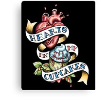 Hearts In My Cupcakes Canvas Print