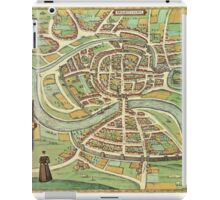 Bristol Vintage map.Geography Great Britain ,city view,building,political,Lithography,historical fashion,geo design,Cartography,Country,Science,history,urban iPad Case/Skin