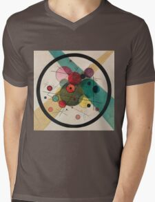 Kandinsky Abstract Painting Mens V-Neck T-Shirt