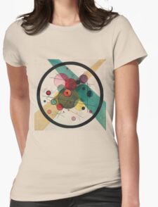 Kandinsky Abstract Painting Womens Fitted T-Shirt