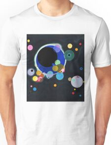 Abstract Kandinsky Painting black and blue Unisex T-Shirt
