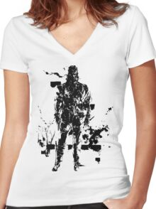 Big Boss MGS3 Women's Fitted V-Neck T-Shirt