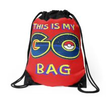 My GO! Bag (RED) Drawstring Bag