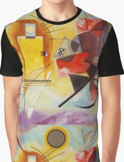 Yellow and Blue Kandinsky painting Graphic T-Shirt