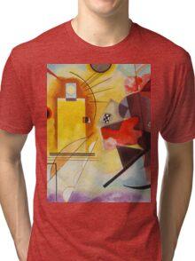 Yellow and Blue Kandinsky painting Tri-blend T-Shirt