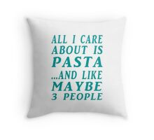 all about pasta  Throw Pillow