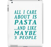 all about pasta  iPad Case/Skin