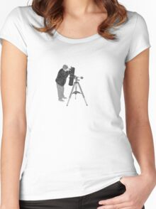 Astronomy Through the telescope SMALL Women's Fitted Scoop T-Shirt