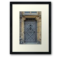 Iron Castle Door - Phone Cases, Pillows and More Framed Print
