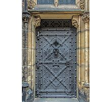 Iron Castle Door - Phone Cases, Pillows and More Photographic Print