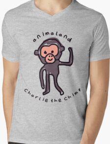Charlie the Chimp Mens V-Neck T-Shirt
