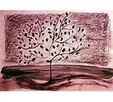 Red Tree drawing Photographic Print