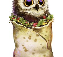 Owl In A Burrito by brainbowtoys