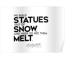 statues out of snow - walter scott Poster