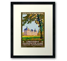 Cheverny, French Travel Poster Framed Print