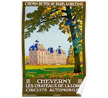 Cheverny, French Travel Poster Poster