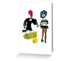 Dot and Jill.. set the fashion Greeting Card