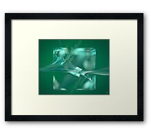ice cube Framed Print